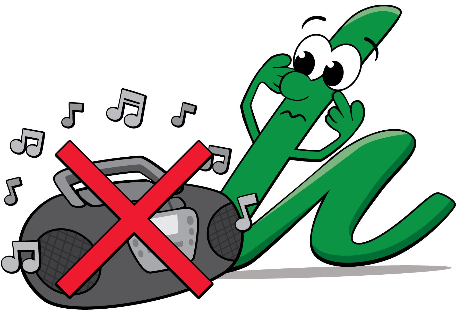Logo no music allowed