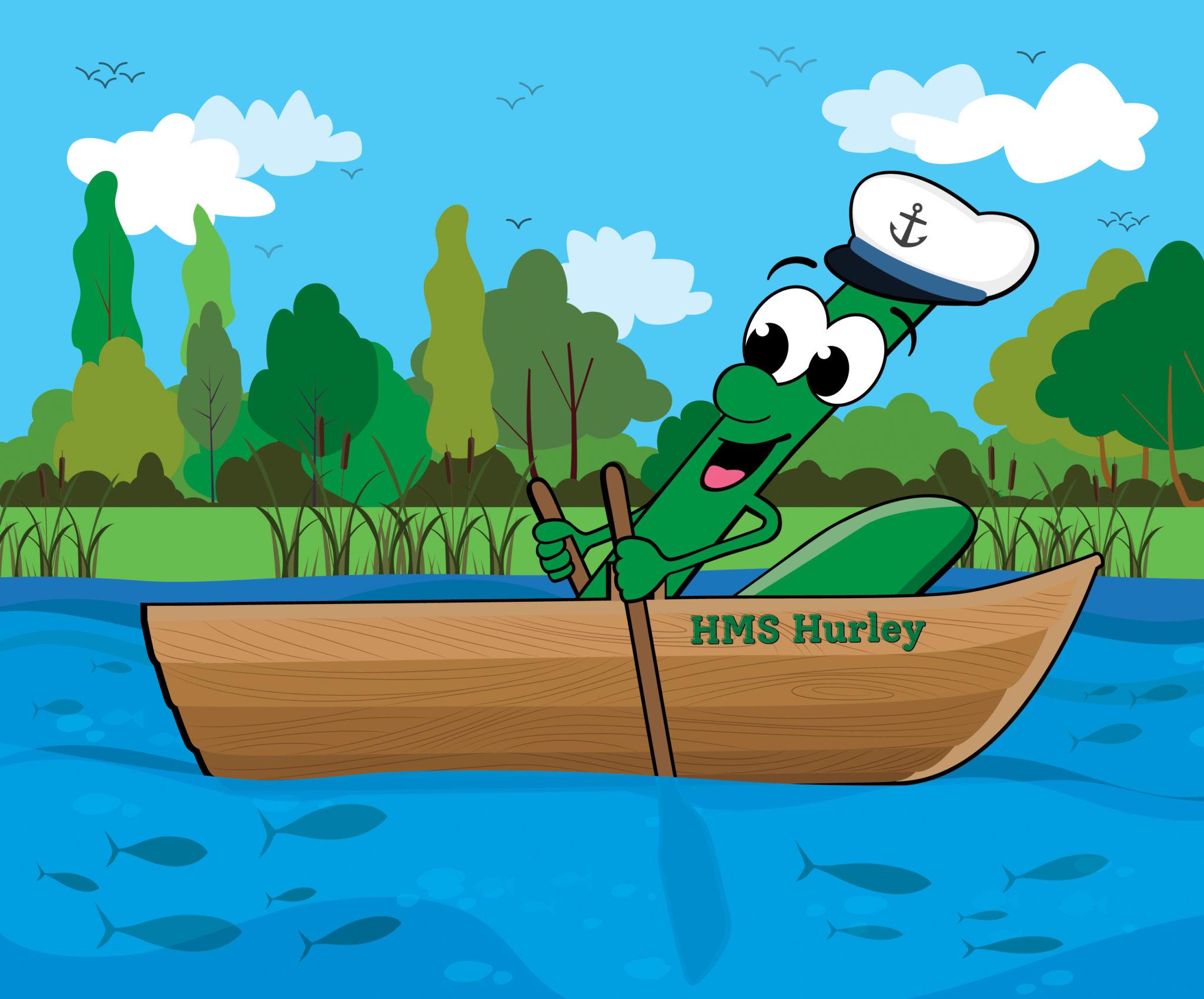 logo in boat