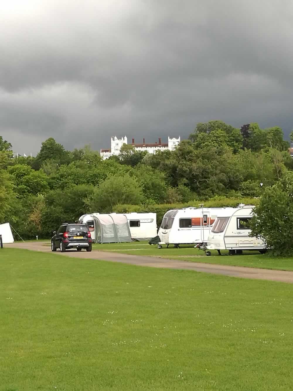caravans outside