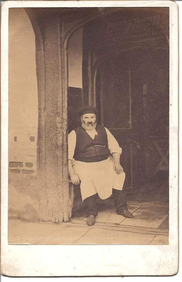 big man in old photo