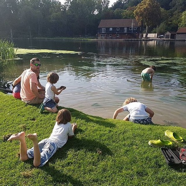 swimming in lake